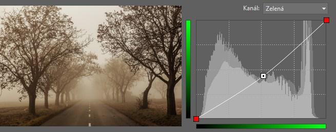 Korekce zeleného kanálu (navíc k úpravě z minulého obrázku).