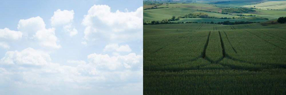 Dvě různé scény, každá s velmi malým dynamickým rozsahem.