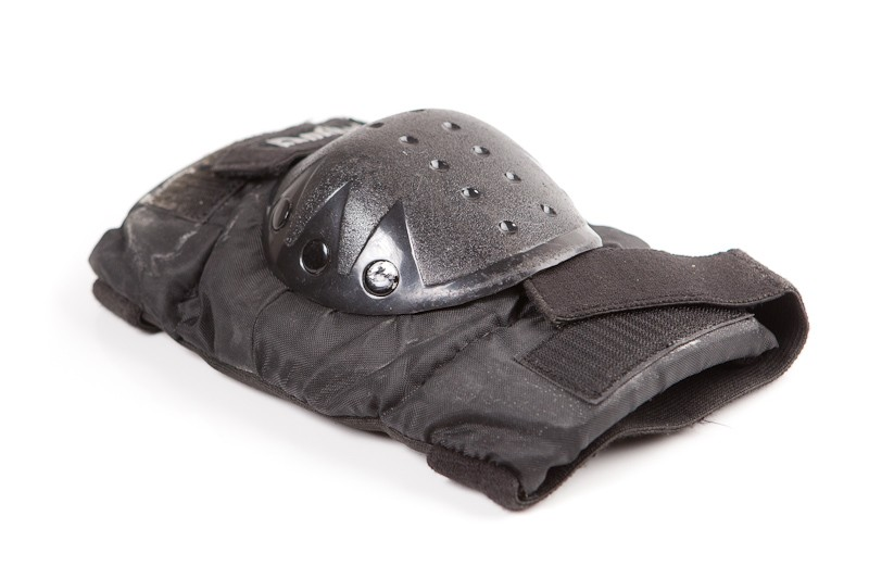 Chrániče na kolečkové brusle. Nepříliš pohodlné.