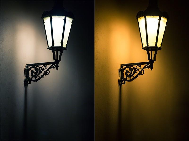 """Lampa s různým vyvážením bílé, ani jedna varianta není """"špatně"""". Canon 5D Mark III, Canon EF 70-200/2.8 IS II, 1/60 s, F2,8, ISO 800, ohnisko 200 mm"""