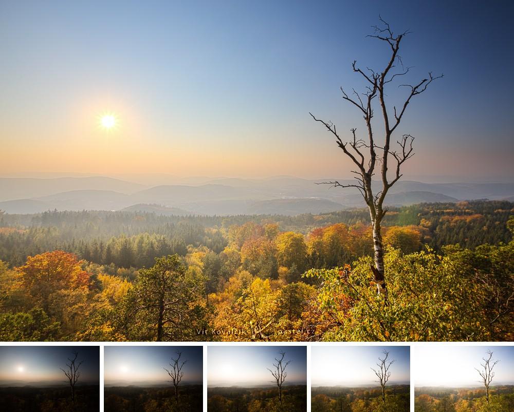 Finální fotografie nahoře vznikla spojením z pěti snímků.