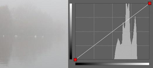 Původní verze fotografie s mlhou.