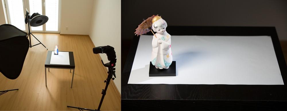 Scéna s třemi světly, vlevo hlavní beauty dish, vpravo snoot pro světelné orámování panenky a tlumený softbox pro vyplnění případných černých stínů. Canon 5D Mark II, Canon 70–200 mm F2,8 IS II, 1/160 s, F5,6, ISO 100, ohnisko 95 mm.