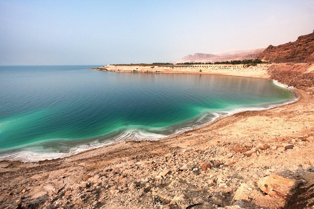 Esovitá část Mrtvého moře. Canon 40D, Canon EF-S 10-22/3.5-4.5, 1/320 s, f/8.0, ISO 400, ohnisko 10 mm