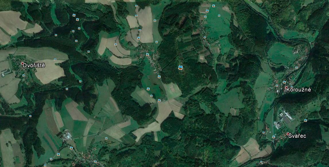 Snímek z Google Earth Pro.